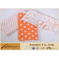 China 16 x 19 Inch Heat Transfer Printed Microfiber Cleaning Cloth with Overlocked Edge on sale