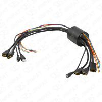 IP54 13 Circuits Through Bore Slip Ring Transferring Current Signal HDMI USB2.0 Signal Simultaneously for HD Equipment Manufactures