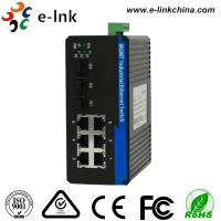 6 Port Managed Industrial Ethernet Media Converter with 3 1000Base-X SFP ports and 6 10 / 100Base-T(X) ports Manufactures