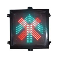 Roadway Safety Used Big Red Cross Green Arrow Traffic Sign For Parking Lot and Garage Manufactures