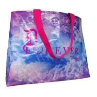 Custom Printed Non Woven Carry Bag Shining Coated  Pink Handle For Shopping Manufactures