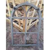 Tall Cast Iron Arched Casement Windows / Folding Cast Iron Mirror Frames Manufactures