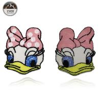 Fashionable Duck Custom Chenille Patches / Disney Character Patches Sew On Style Manufactures