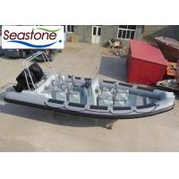Military Rigid Hulled Inflatable Boat Eight Jockey Seats Twin Engine Powerful Manufactures