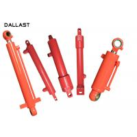 Double Acting Telescopic Hydraulic Cylinder , Piston Farm Machinery Hydraulic Oil Cylinder Manufactures