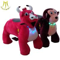 Hansel 2018 ride for kids plush stuffed electric battery operated ride animals on wheels