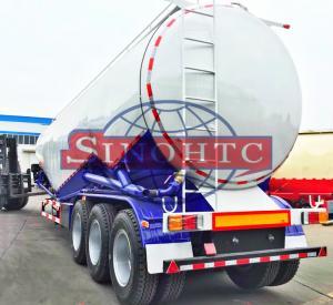 55 000 Liters Bulk Cement  Tank Semi Trailer Three Axles Leaf Spring Suspension Manufactures