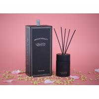 Matte Black Round Glass Home Reed Diffuser Natural Essential Oils With 8 Scents Manufactures