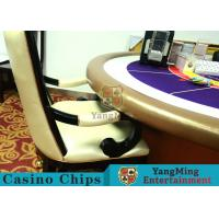 Comfortable Casino Gaming Chairs / Solid Wood Chair Internal High - Density Sponge Manufactures