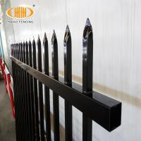 China A.S.O factory selling used wrought iron door gates with 450g/mm steel spear top fence on sale