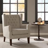 Lounge Arm Accent Chair , Cream Occasional Chair With Solid Frame Construction Manufactures