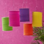 Spring Lampion Paper Lanterns Craft , Outdoor Hanging Paper Candle Lanterns 10 X 15 Cm Manufactures