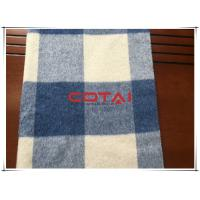 Buy cheap Blue Plain / Tartan Double Faced Alpaca Wool Fabric , Width 57/58