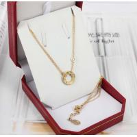 18K Luxury Gold Jewelry Love Necklace 18K Gold Love Ring Pendant with 2 Diamonds B7219500 Manufactures