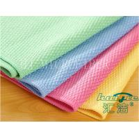 China Red / Blue / Yellow Washable Microfiber Glass Cleaning Cloth For Window Cleaning on sale