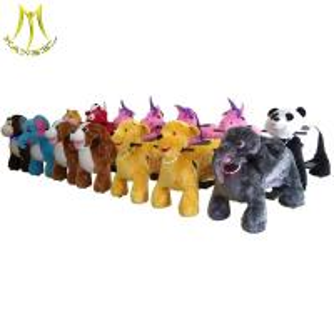 China Hansel safari zippy battery rides car stuffed electric animal ride on toy on sale