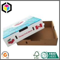 Lid and Base Custom Color Print Paper Corrugated Cardboard Box for Fruit Cherry Manufactures