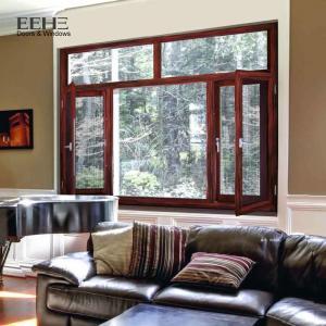 Sound Insulation Black Aluminum Casement Windows For Construction Office Buildings