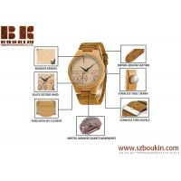 China Wholesale Cheap Fashion Wooden Watch Leather Strap Unisex Watch on sale