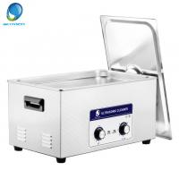 China Mesh Basket Mechanical Ultrasonic Cleaner , Ultrasonic Fuel Injector Cleaning 20L on sale