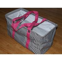 Thirty One Large 21 x 12 x 10 Utility Tote Shopping Laundry Storage Bag PINK Manufactures