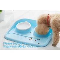 China Double stainless steel dog bowl pet cat feeder water food dog bowl, No-Spill and Non-Skid Stainless Steel Pet Bowls Dog on sale