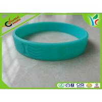 Soft Debossed Logo Sports Silicone Bracelets Non-toxic Green Manufactures
