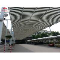 Large Tensile Membrane Structures , Removable Shade Net Vehicle Carport Tent Manufactures