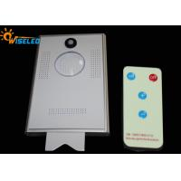 10W Remote Control Led Street Light With Solar Panel , Solar Light Street Lamp With Sensor Manufactures