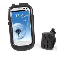 Black Rotatable Bike Mount Mobile Phone Holder Waterproof For Samsung Galaxy S3 i9300 Manufactures
