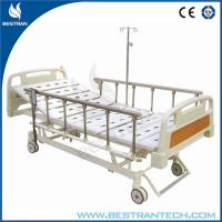 Three Functions Electric Hospital Beds With 6 - rank Al - Alloy Side Rails Manufactures