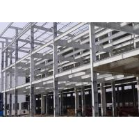 China Q345B H Section Light Steel Frame For Car Garage With Grey Color Paint Treatment on sale