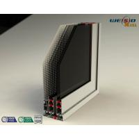 Color Coated Aluminum Extrusion Profiles , Customized Door Frame Profiles Manufactures