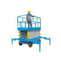 China Electric Hydraulic Self Propelled Scissor Lift , Mobile Scissor Lift 12m Lift Height on sale