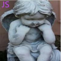 China White Marble Angel Statue Sculpture for Memorial Decoration on sale