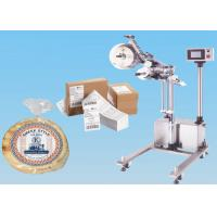 Stainless Steel Automatic Sticker Labeling Machine On Line Top Labeler With Stand Manufactures