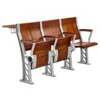 Walnut Plywood College Classroom Furniture / Student Study Table And Chair With Armrest Manufactures