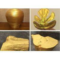China Eco - Friendly Shiny Gold Wall Paint Gold Coloured Odourless Anti - Peeling on sale