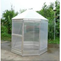 anodized strong aluminum greenhouse with single lockable door Manufactures