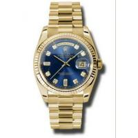 Rolex Day-date Blue Automatic 18kt Yellow Gold Mens Watch 118238BLDP Manufactures
