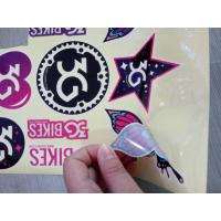 Die Cut Clear Paper Custom Vinyl Stickers , Adhesive Personalized Waterproof Stickers Manufactures