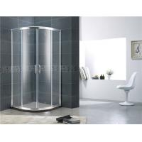 Double Moving Door Aluminum Alloy Shower Screens Chromed Sliding With Stainless Steel Handle Manufactures