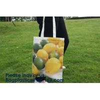 China Promotion Custom Long Handle Cotton Canvas Bag,Tote Organic Best Cotton Reusable Produce Bags,New Arrival Customized Log on sale