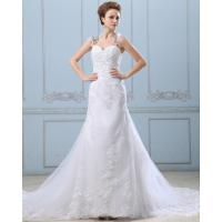 Lace Flower Strapless sweetheart neckline Wedding Gowns with open back Manufactures