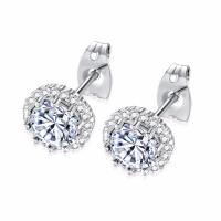 Buy cheap Jewelry Simple Designs Stainless Steel 14K 18K Small Gold Silver Stud Earrings from wholesalers