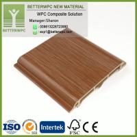 China Good Sound Insulation Wood Grain Plastic Composite Board Plastic Outdoor House Decorative Wall PVC WPC Wall Panel on sale