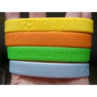 China Custom deboss or emboss silicone wristband,Bracelets,Available custom Silicone bracelets on sale