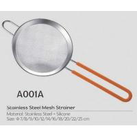 Hot selling kitchen stainless steel mesh strainer with silicone ear and handle Manufactures