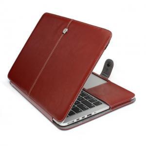 PU leather folio case for Macbooks,11.6,13.3,15.4& Air,Retina,Pro,brown color Manufactures