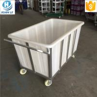 500litre commercial plastic laundry trolley carts with wheels for line Manufactures